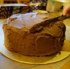 Sweet Treats Smarties Anti Gravity Anti-Gravity Cake Chocolate Buttercream Birthday Mum Create Bake Off Entry Seven 7 Learning Happiness