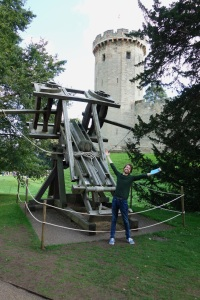 Entry 8 Eight 7 Seven Days of Happiness Week Happy Learning Warwick Castle Challenge Trebuchet German Vitamin D Try Something New Sweet Treat Charity Charitable Adventure
